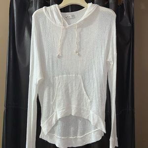 COMFY HOLLISTER WHITE SWEATER HOODIE